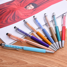 2016 new crystal stylus pen touch for Office material school supplies