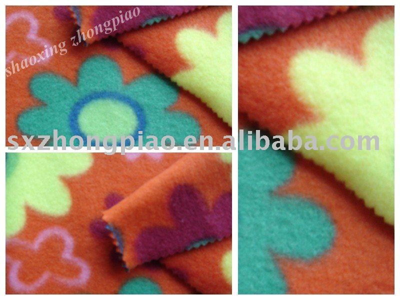 FDY printing two brushed fleece fabric