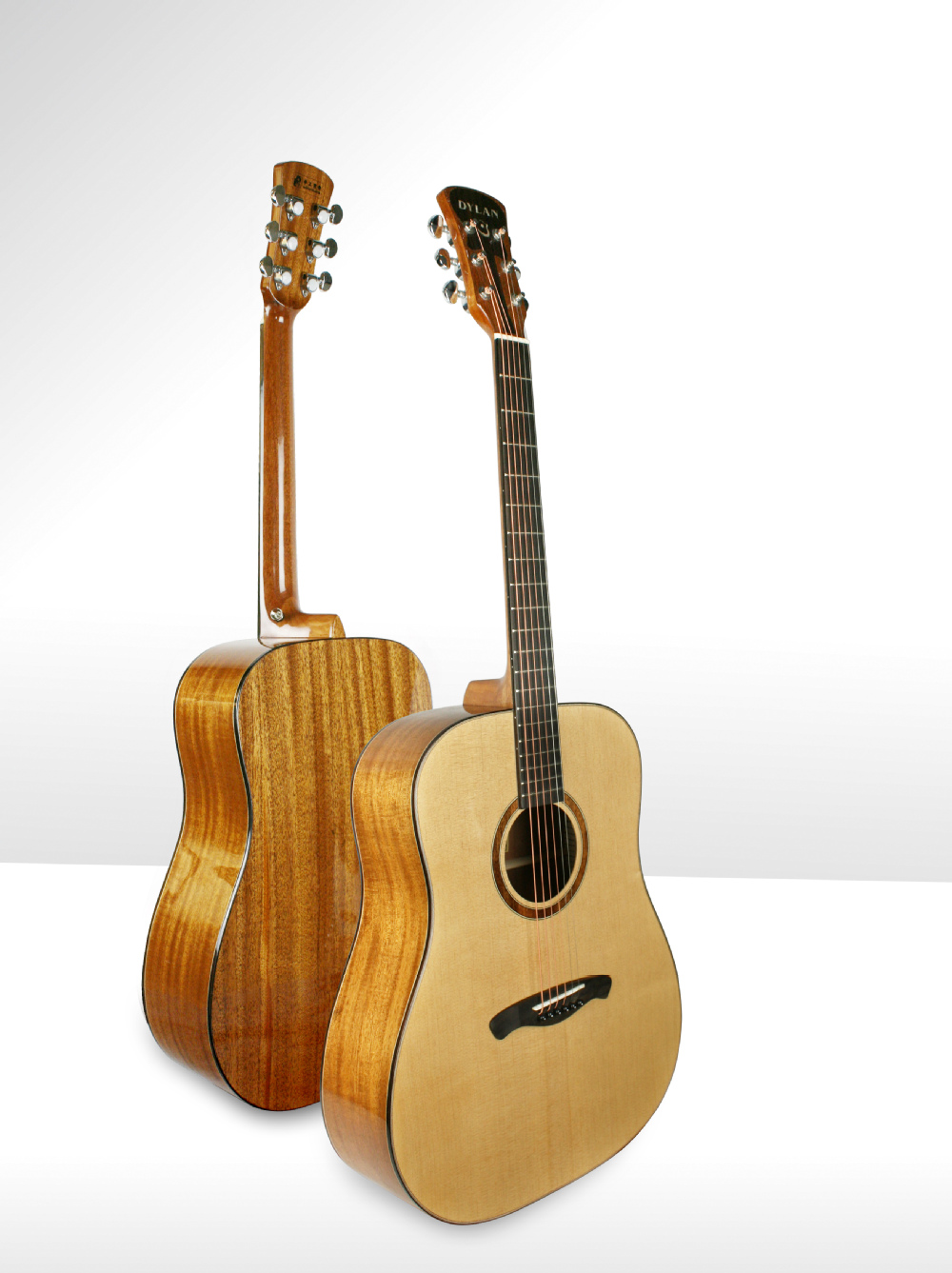 "Solid Sitka Spruce Top Dreadnought A Grade Snorkeling fingerboard 41"" Acoustic Guitar"