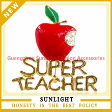 Paragraphs Christmas apple brooch super the teacher a brooch alloy brooch act the role ofing is tasted