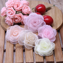 DIY Organza Rose Wholesale,Fabric Flower Garment Accessories