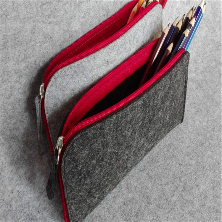 the latest fashion customized multi-functional zippered felt pencil pouch