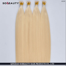 Wholesale Tangle Free Human High Quality Hot Selling Shedding Free germany tape keratin pre-bonded itip hair factory