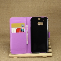 Best quality latest leather case flip cover for htc one m8