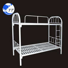 commercial steel frame twin queen adult double decker cheap military metal bunk bed double bed