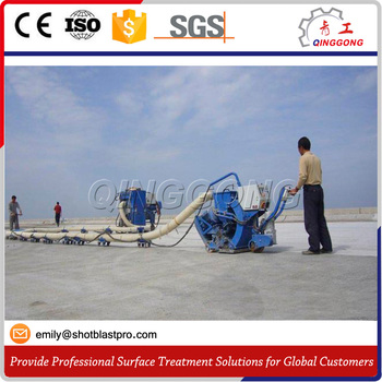Movable Shot Blasting Machine for Concrete Road and Steel Deck