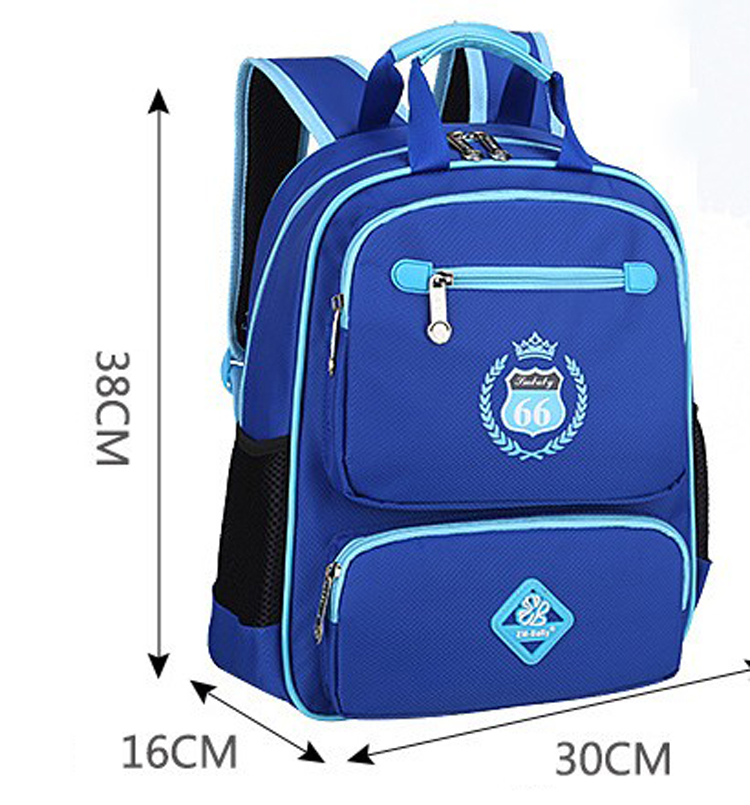 Wholesale reduced pressure high capacity waterproof school children backpack