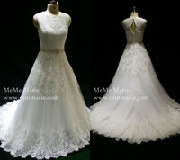 Designer lace wedding gowns wedding dress ball gown latest fashion dresses heavy beading belt bridal dresses with long tail