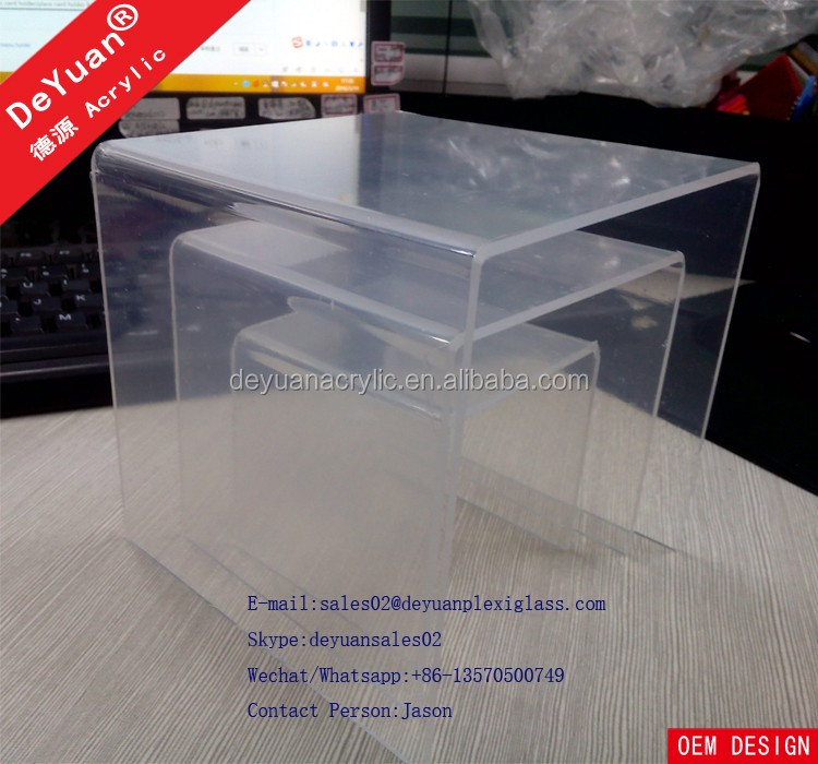 Riser Set Acrylic Shoe Display Stands OEM Design