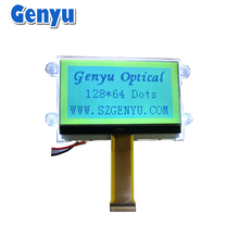Genyu Monochrome STN(Yellow-Green) 128x64 cog Graphic lcd Module For Charger
