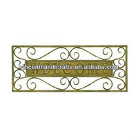 Rustic antique wall mounted hanging metal art WELCOME sign