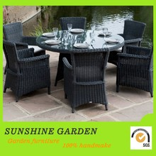 Good Quality White Garden Wicker Rattan Bamboo Furniture