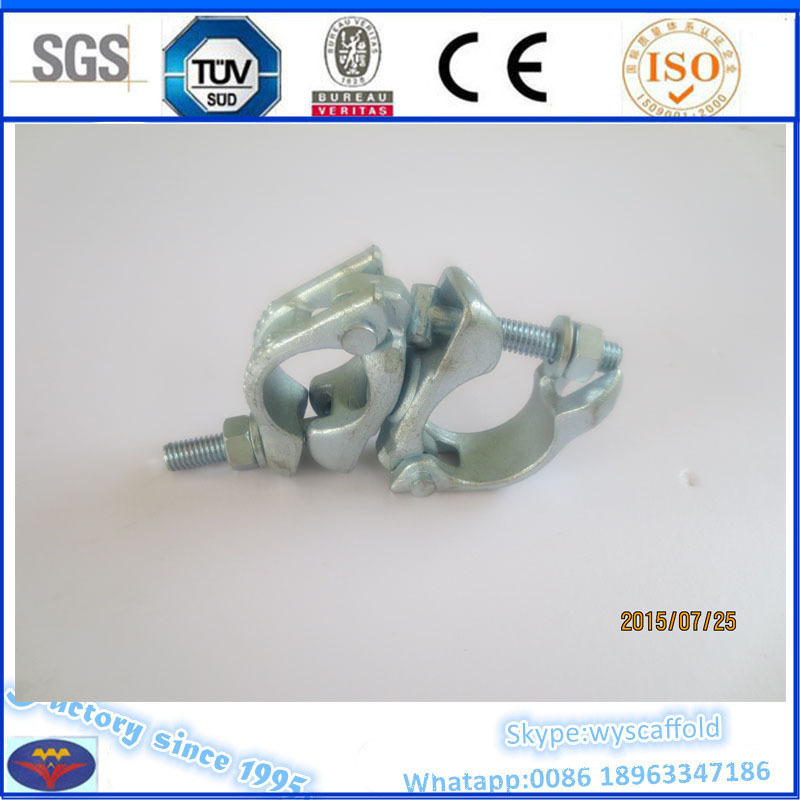 BS1139 scaffolding double coupler large load capacity 15KN 6mm