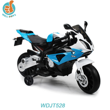 WDJT528 Best Quality Factory Directly Sell Licensed Electric Motorbike For Kids Motorcycle Children Car Steering