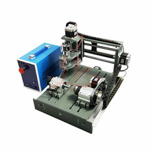 4 axis mini cnc router milling machine 2030 2 in 1 with Parallel and usb port