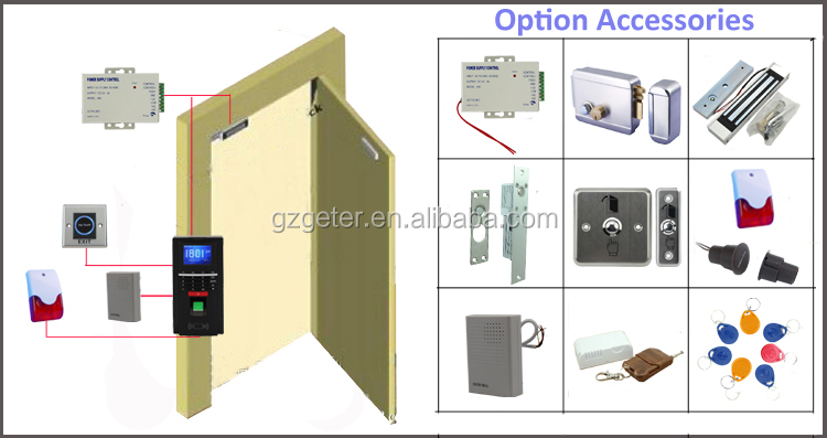 Color Screen Biometric Fingerprint and Card Access Control F20 updating