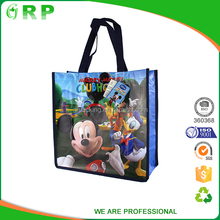 Factory wholesale pp non woven laminated leisure handbags brands