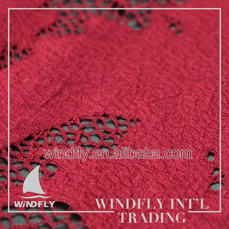 New Style Canada Sample Stretch Border Raschel Lace Fabrics