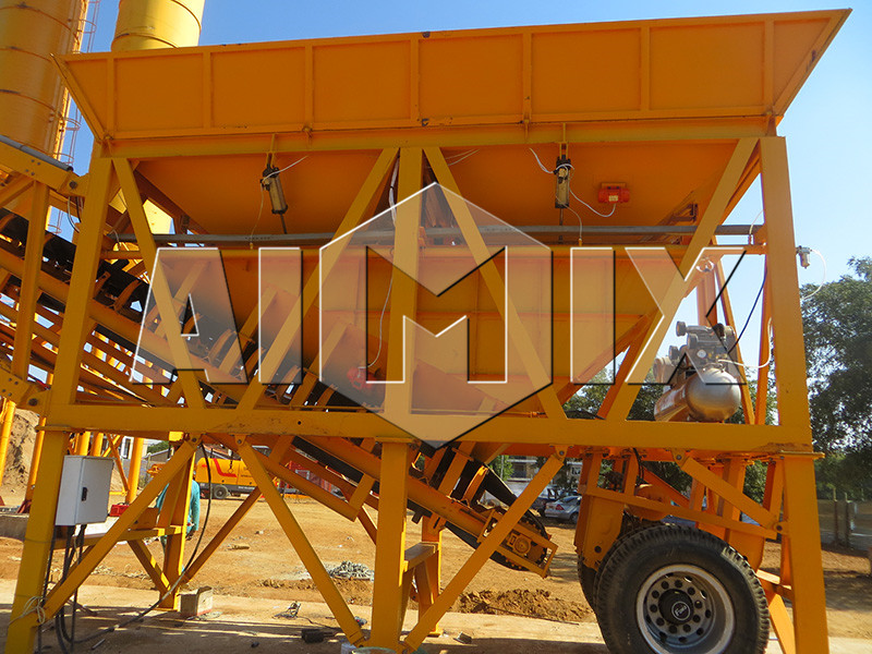 China good quaity mobile concrete batching plant YHZS50 on sale