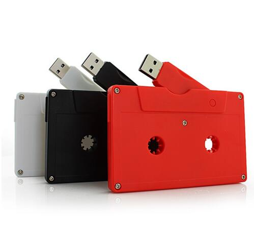 Multi-color plastic cassette tape usb memory stick pen drive bulk cheap 4gb usb flash drives