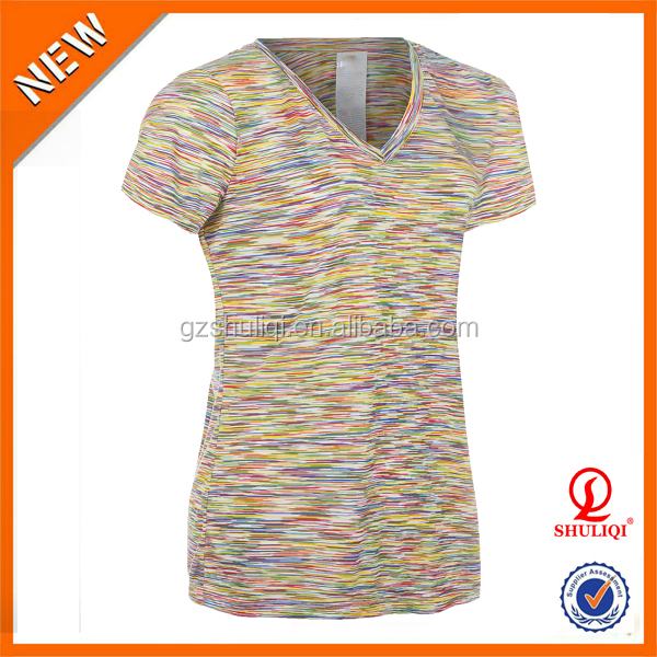 Polyester cotton blend t shirt with wholesale price women for Poly blend t shirts wholesale