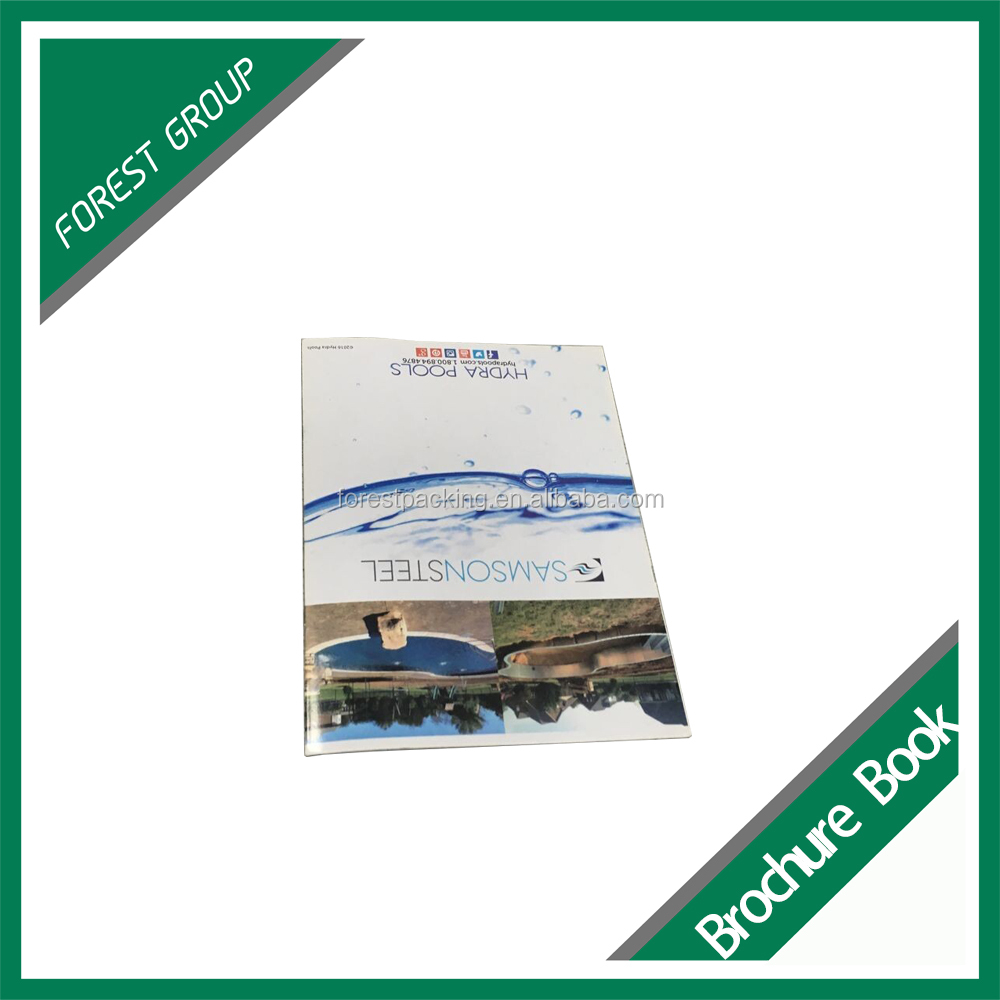 HIGH QUALITY TRANSFER PRINTING UV VARNISHED SADDLE STITCHING BROCHURE PRINTING