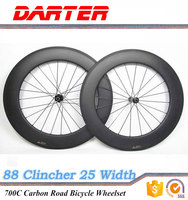 Width 25mm 700C 88mm road bike carbon Clincher wheels