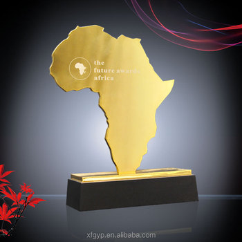 Customized wholesale AFRICA MAP shaped metal award