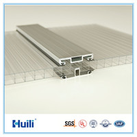Greenhouse Roofing Panel Polycarbonate Sheet Multiwall Hollow Sheet U-lock System UV Coating Protector 12mm Hot Sale