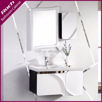 ROCH 8012 New Modern Wooden Bathroom Vanity Shiny Lacquer With Mirrored Cabinet