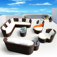 2016 Outdoor Rattan Sofa Set For Hotel And Restaurant Garden Use