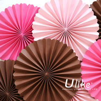 popularr Starburst Fan-Assorted fan flowers for red black birthday party decorations