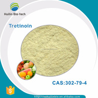 High quality pure natural 99% Fruit and vegetable extracts Tretinoin powder CAS 302-79-4