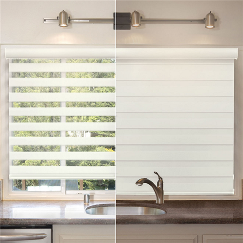 Kitchen room zebra blinds electric window curtain