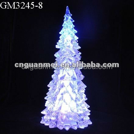 Factory supplier LED acrylic Christmas tree crafts with flowing water