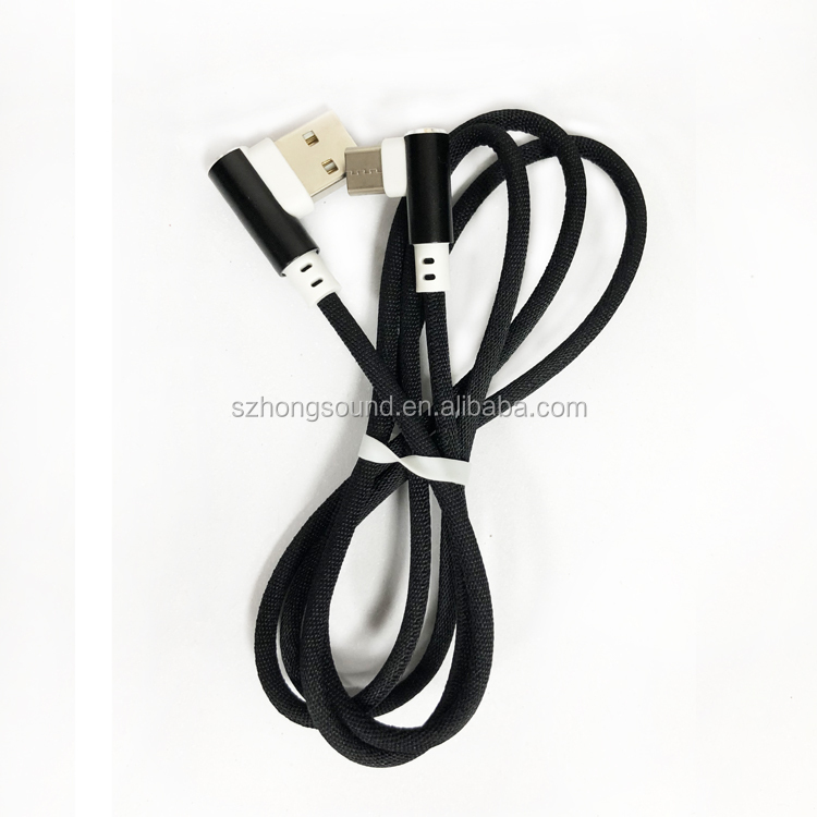 Metal housing usb data cable,durable braided usb cable,Micro/TYPE C/8pin usb c cable with sync