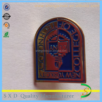 custom gold plated different kinds of metal pin badge
