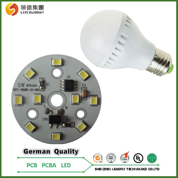 New technology driverless 2835 LED AC220V aluminum PCBA for LED Bubls, UL&RoHS listed <strong>PCB</strong>