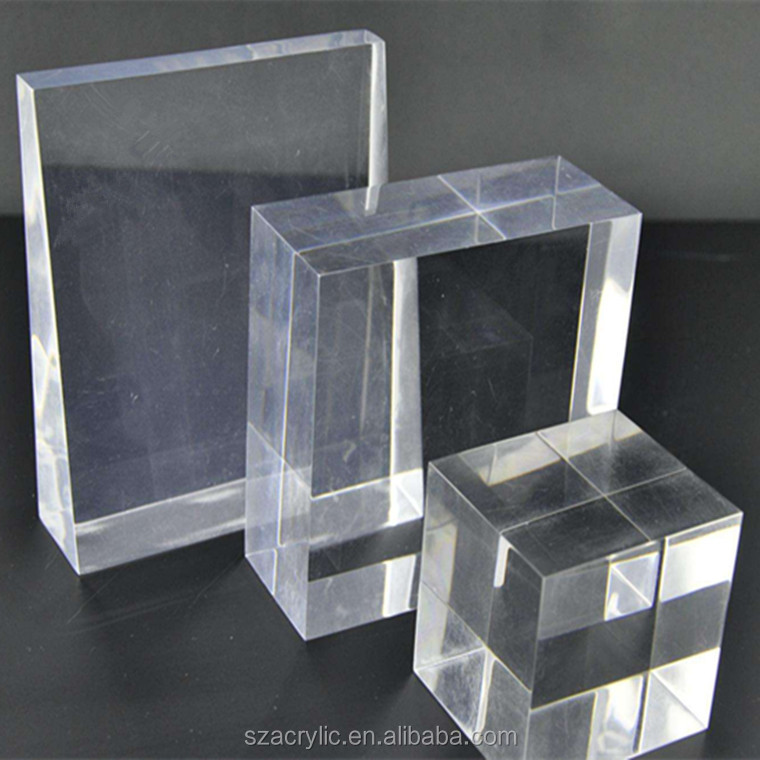 High transparent lucite paperweight block clear solid acrylic ice block