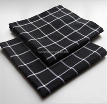 Wholesale and Custom Tea Towels Kitchen Cotton Black check dish towel