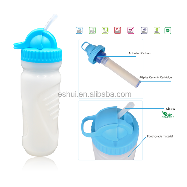 New Arrival Drinking Water Plant Sports Water Bottle <strong>Activated</strong> Carbon Filter