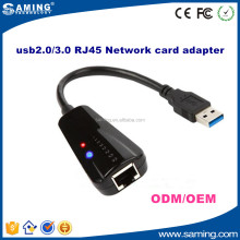 Con Cable RJ45 Ethernet Lan Card Adaptador de Red USB 2.0 a 10/100 Mbps