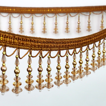 High Quality Beaded Fringe Decorative Bead Tassel Trims Fringe For Garment