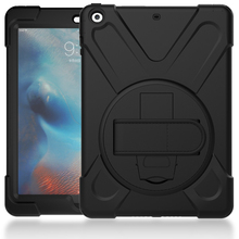 360 Adjustable Kicktsand Silicone Tablet Case For iPad Air Cover