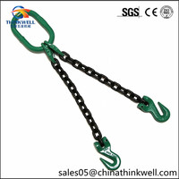 Two Hooks G80 Double Leg Lifting Sling Chain