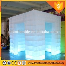 inflatable affordable photo booth , inflatable cabin photo book with led lighting