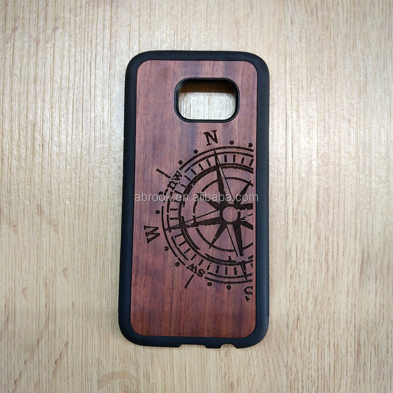 TPU + Wood customized mobile phone case cover for samsung galaxy s7