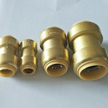 American industrial type high flow two piece brass push-on hose quick connect couplings