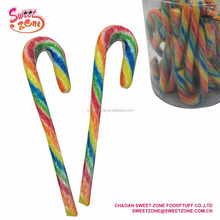 Christmas Candy Rainbow Striped Hard Candy Cane