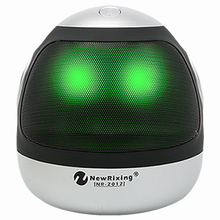 New Robot shape stereo promotional gift portable pulse LED flashing wireless speaker shenzhen manufactured